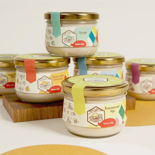 Набор крем-мед в стекле ассорти